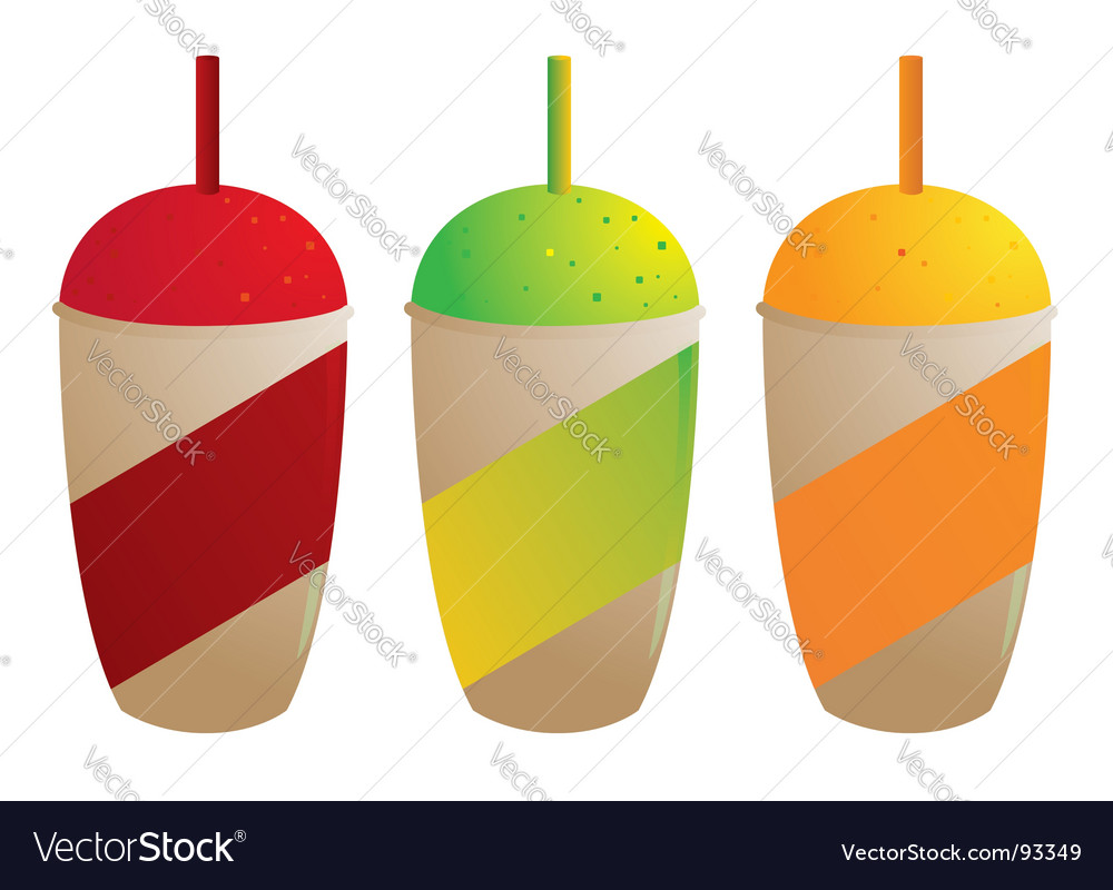 Frozen slurpee drink vector