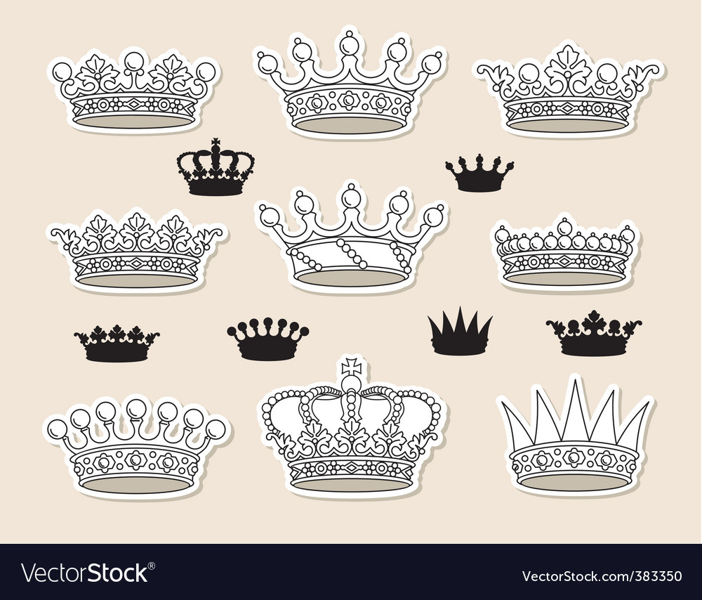 Set crowns vector