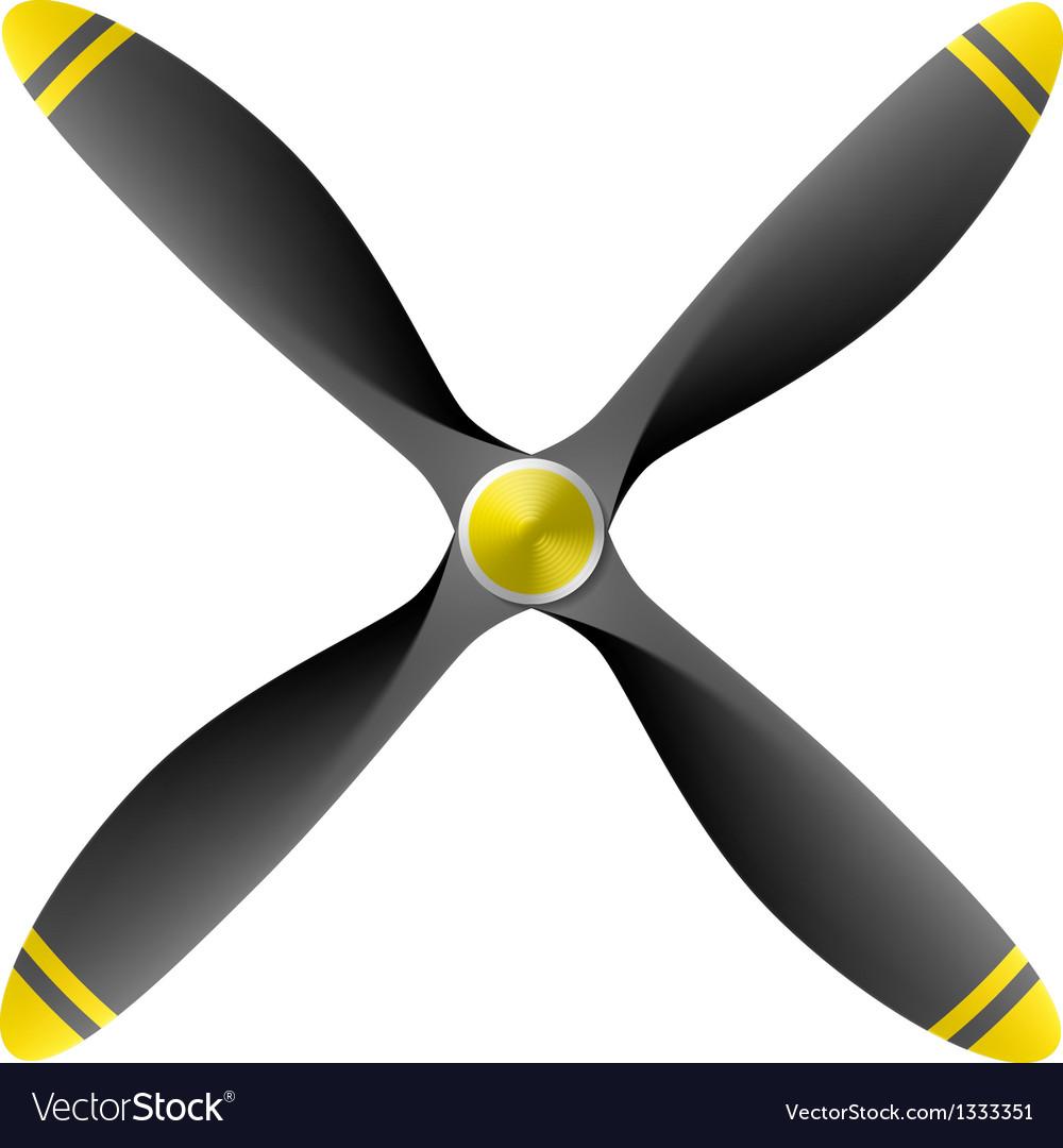 Airplane propeller vector