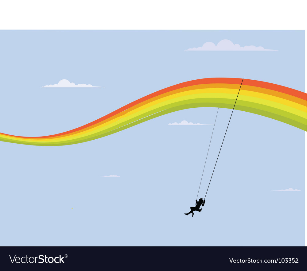 Rainbow swing vector