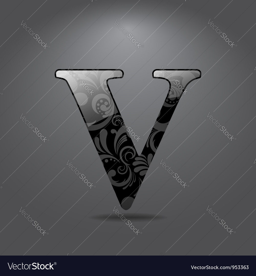 Letter v vector
