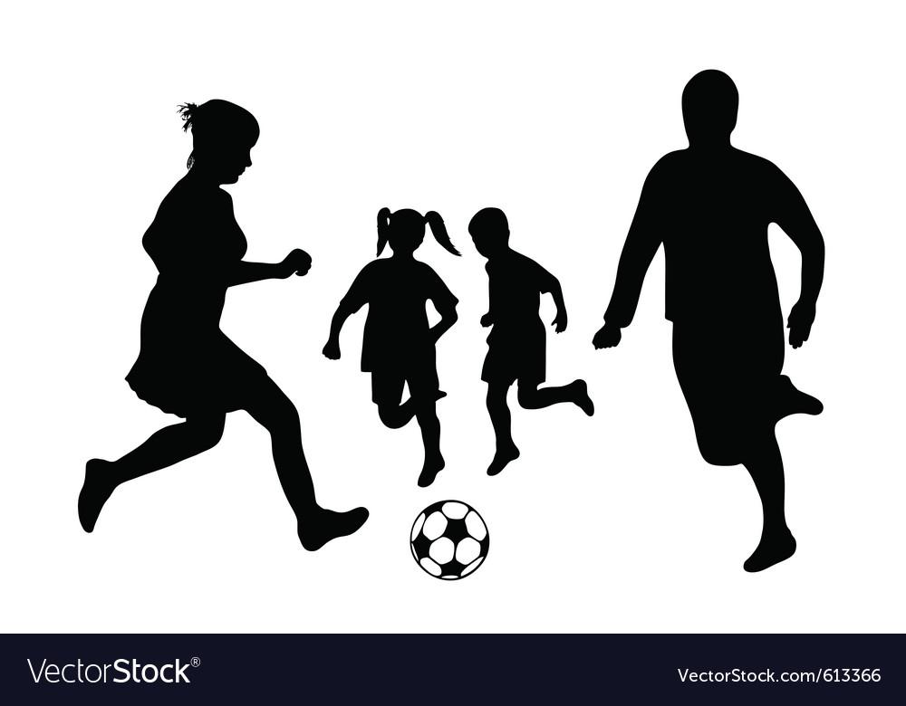 Family soccer vector