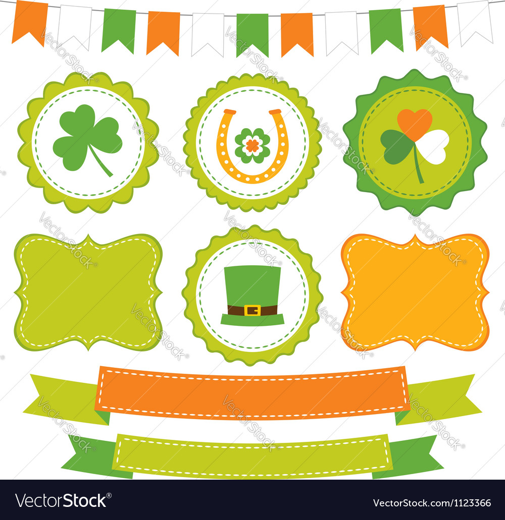 Irish set vector