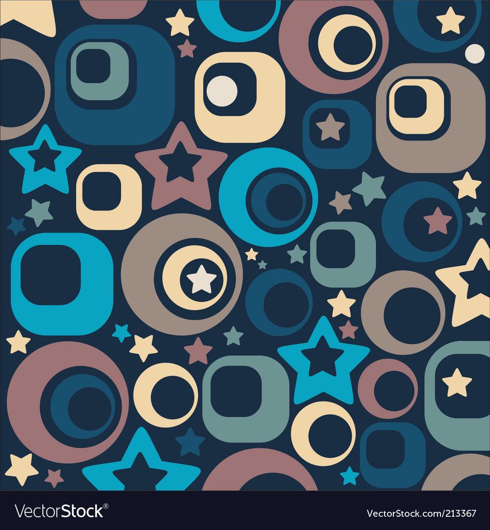 Stars and circles vector