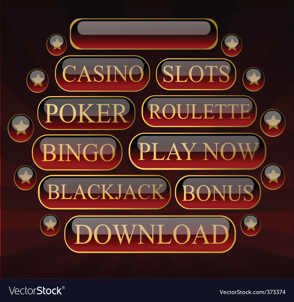 Casinobuttons vector