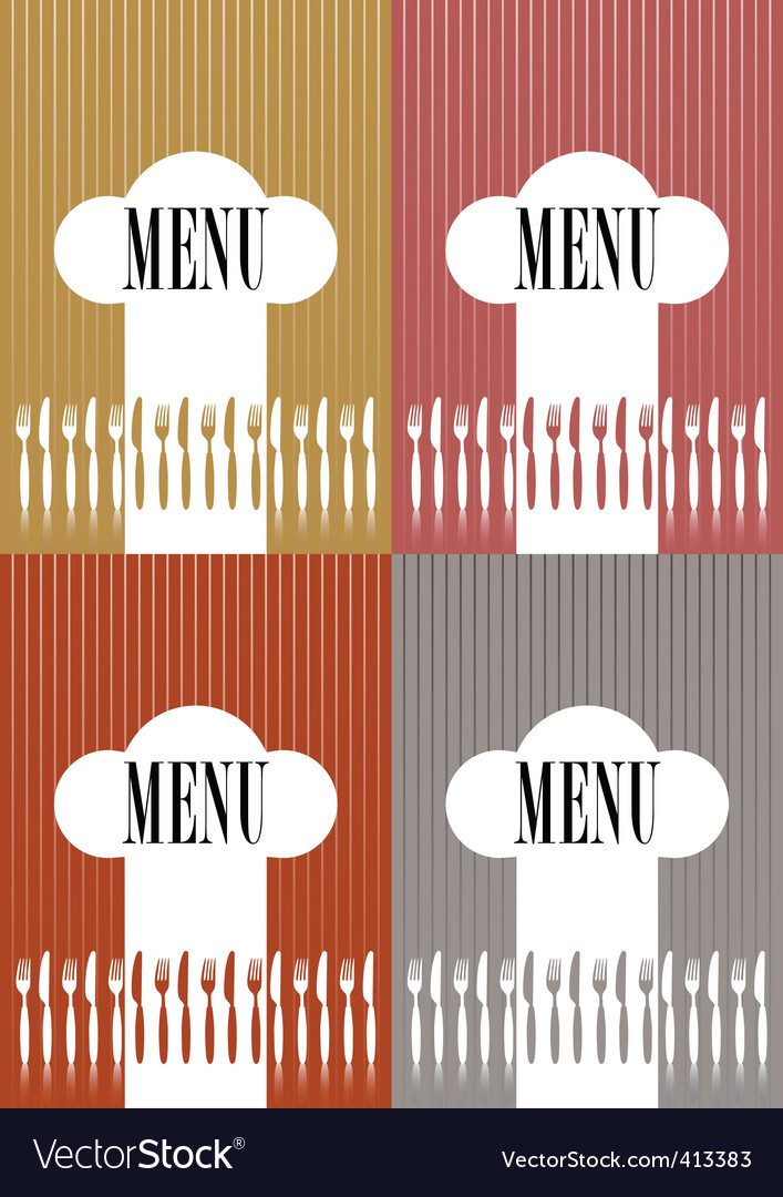 Set of menu card covers vector
