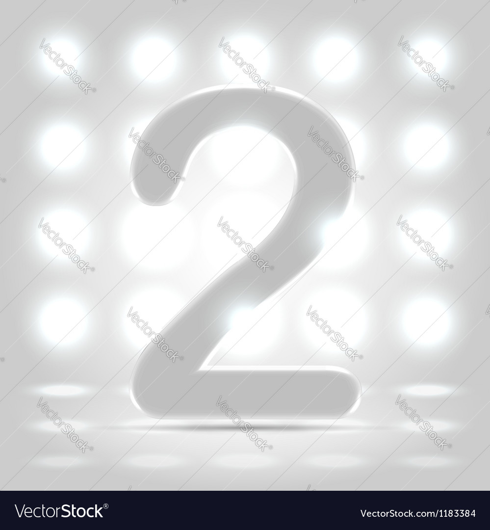 2 over back lit background vector
