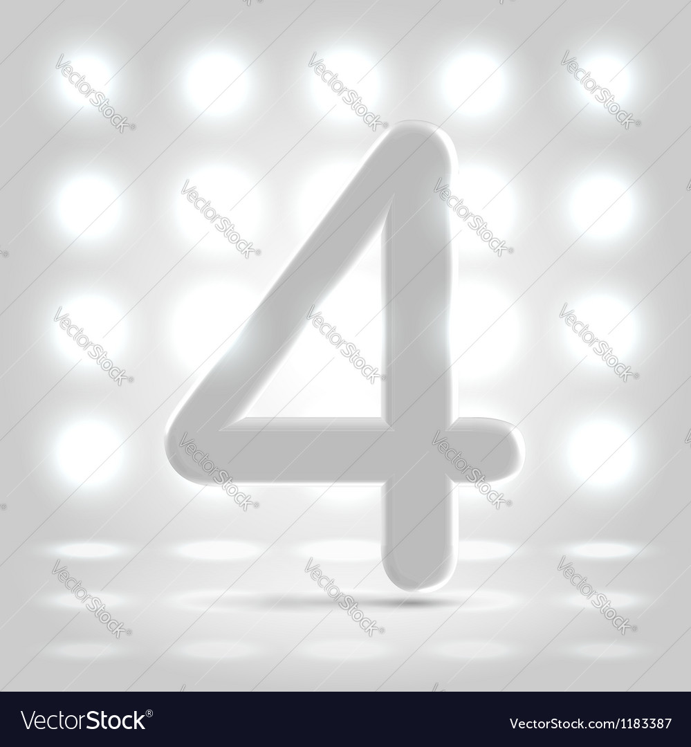 4 over back lit background vector