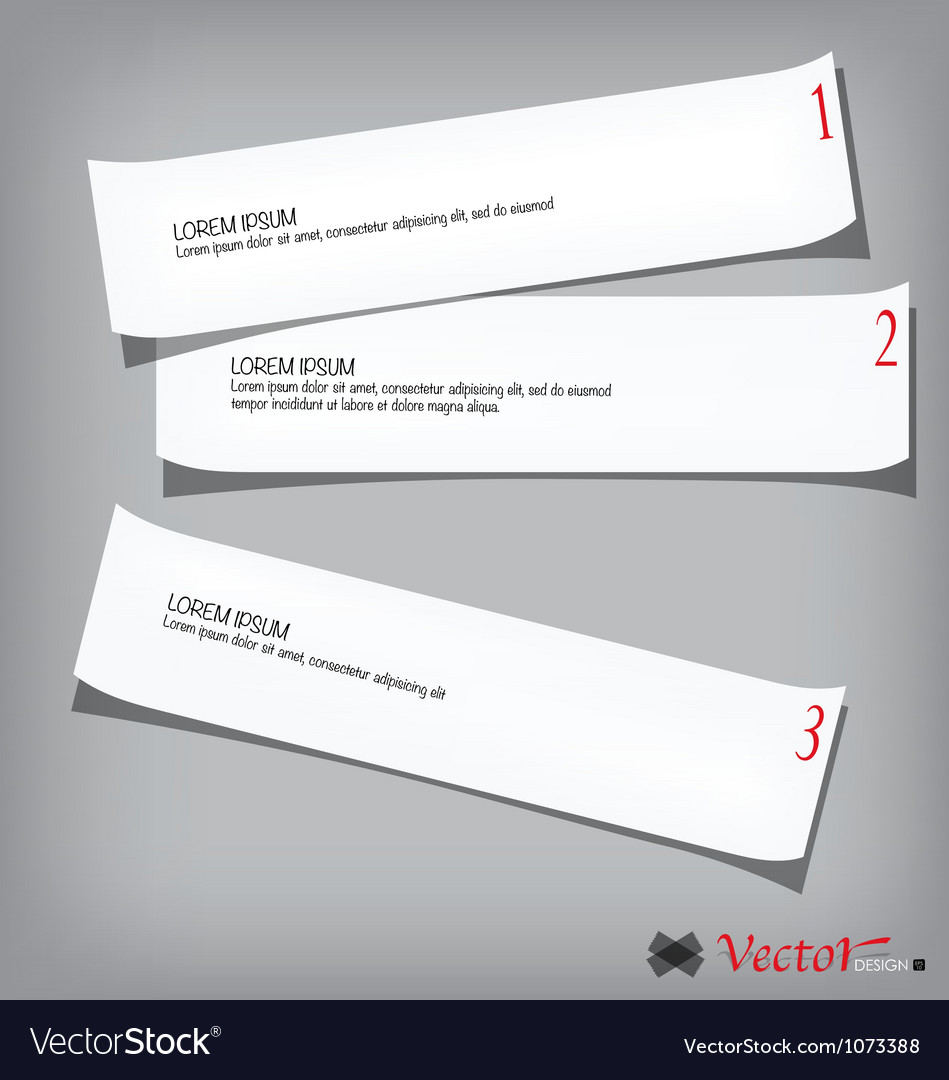 Collection of various white papers vector
