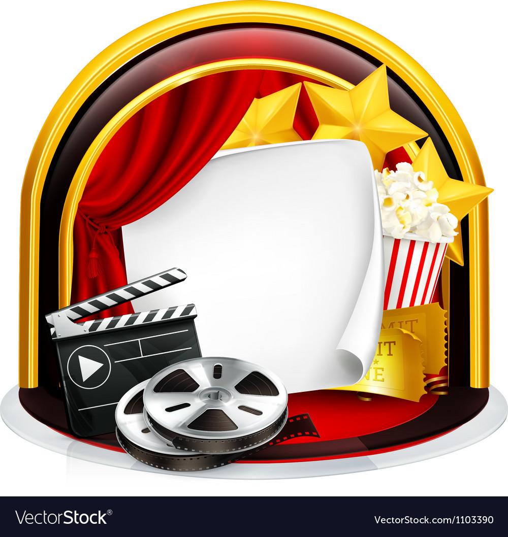 Movie frame vector