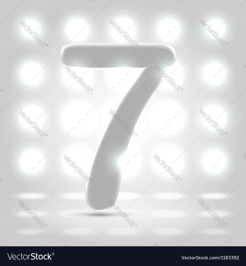 7 over back lit background vector