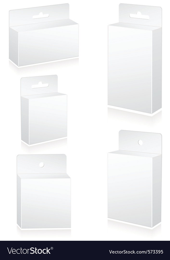 Blank retail cartons vector