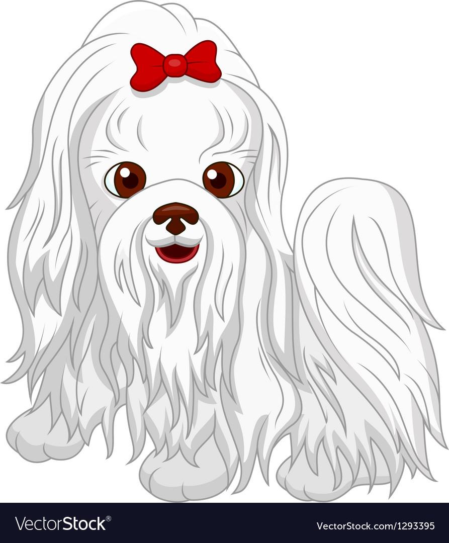 Simple Cute Dog Cartoon