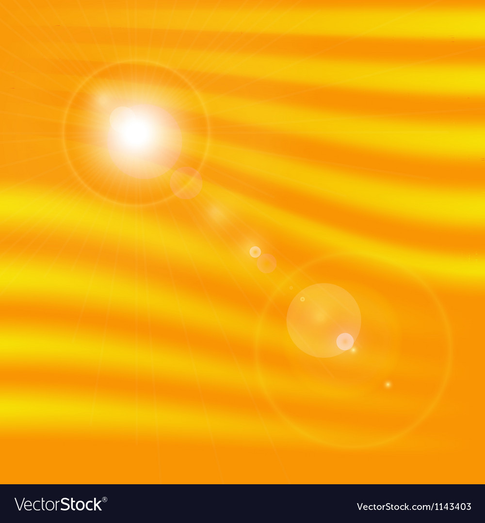 Sun light flare vector