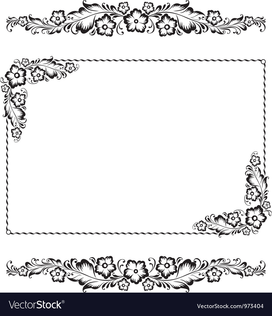 Flower ornament pattern vector