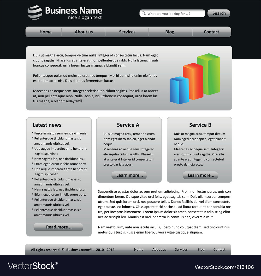 Free web template vector