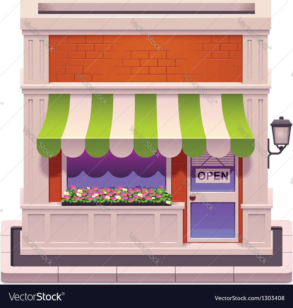 Small shop icon vector