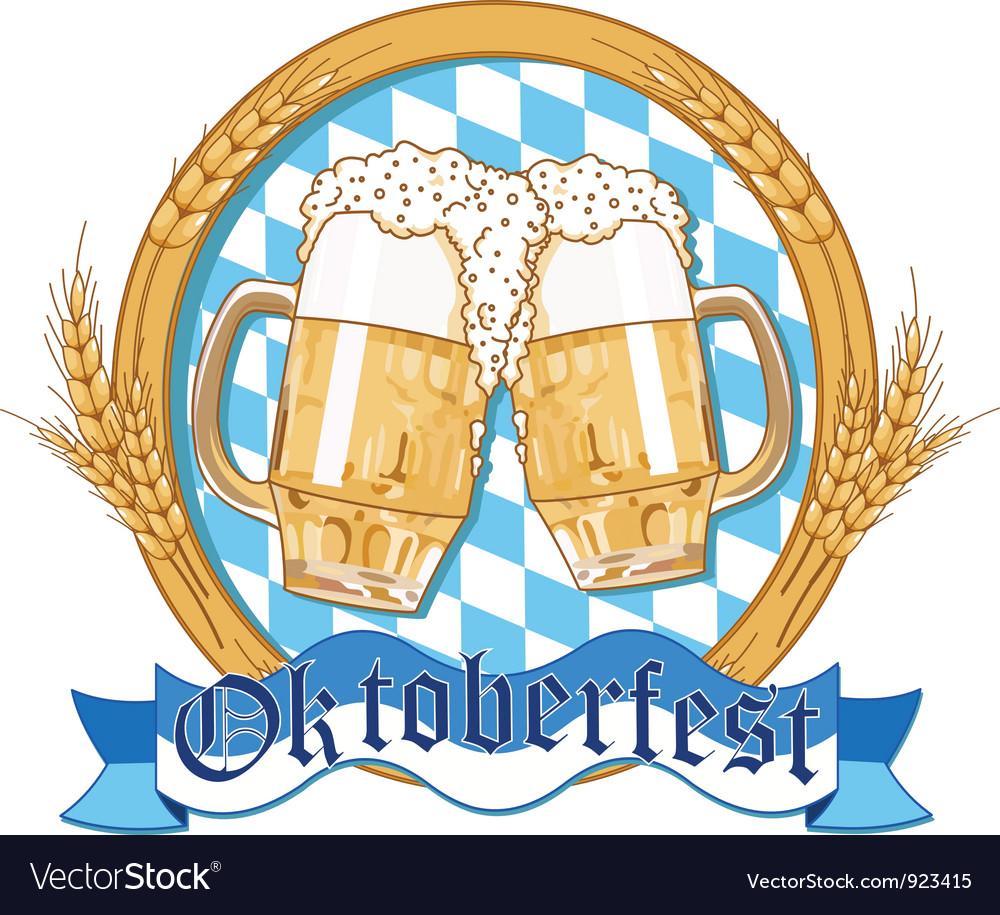 Oktoberfest label design vector