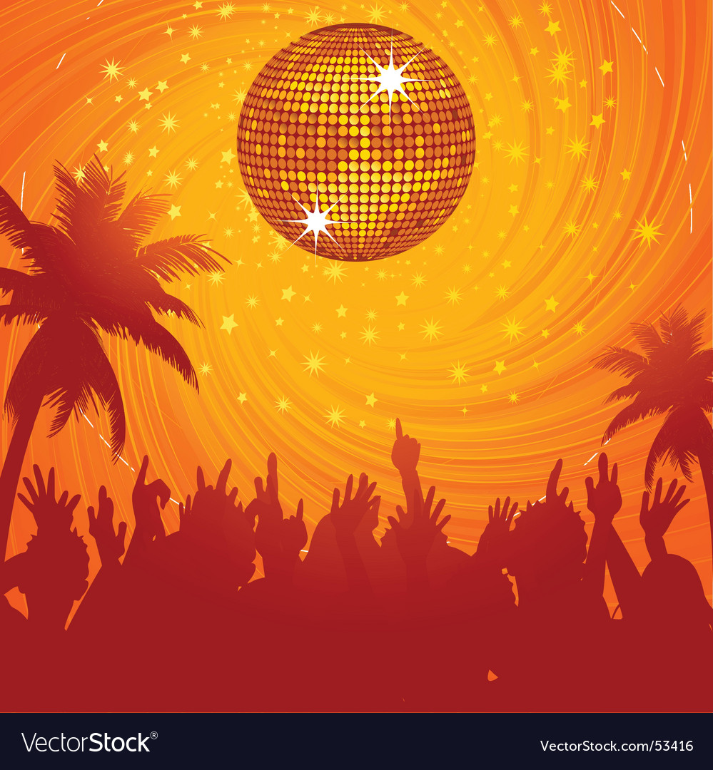 Summer disco party vector