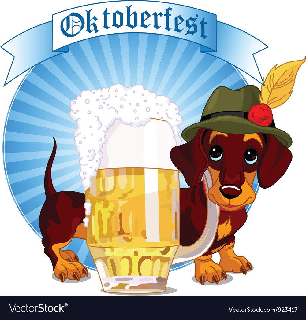 Oktoberfest dog vector