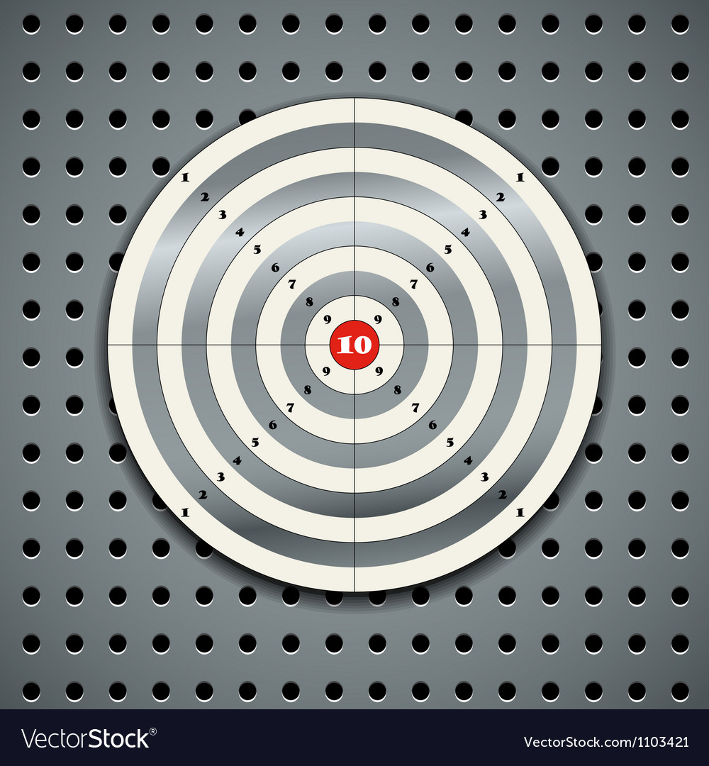 Target on steel background vector
