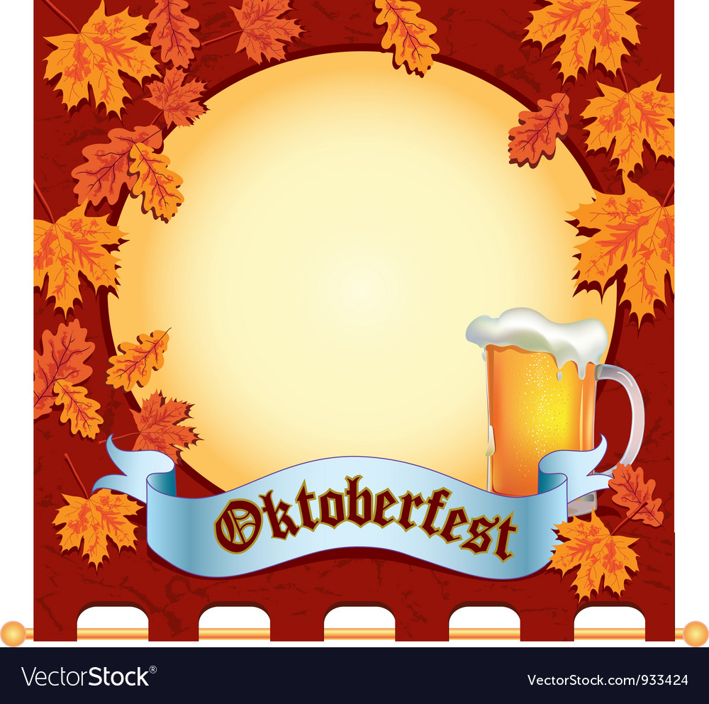 Banner octoberfest space vector