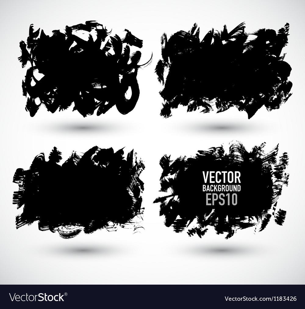 Set grunge banner vector
