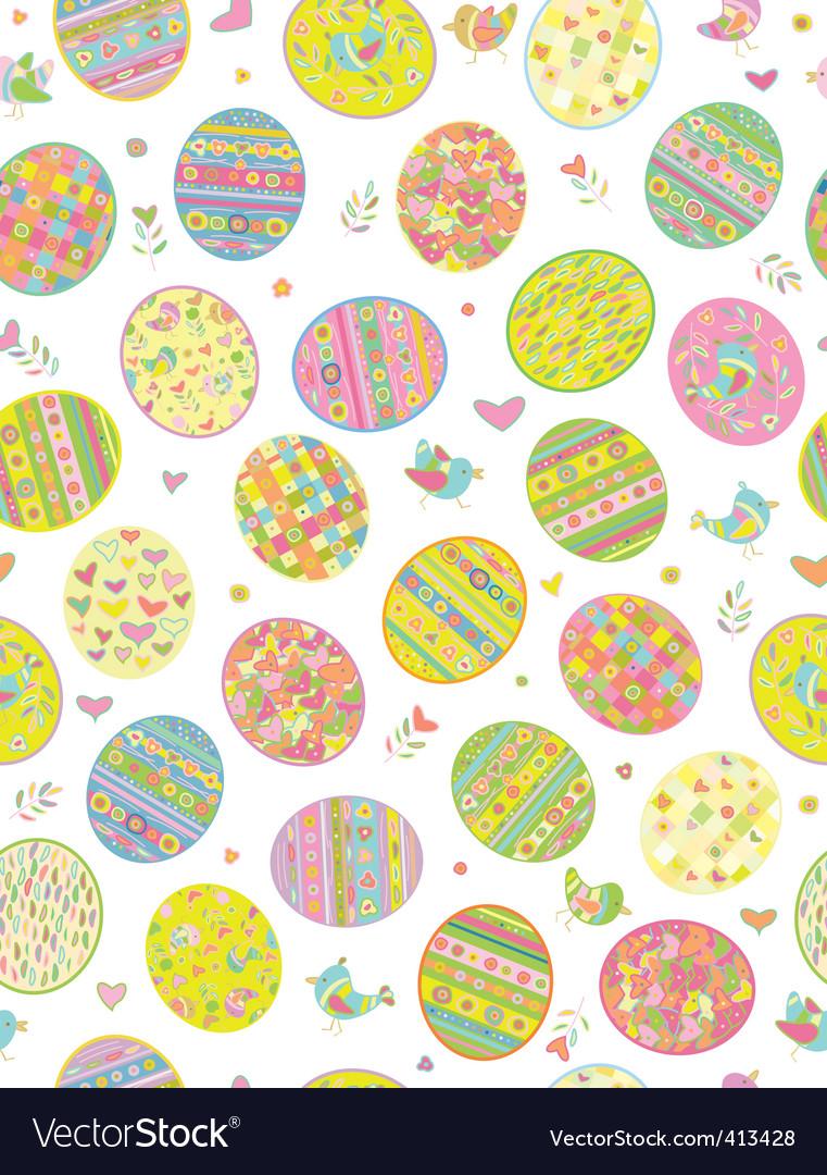 Easter Egg Pattern Eggs Vector