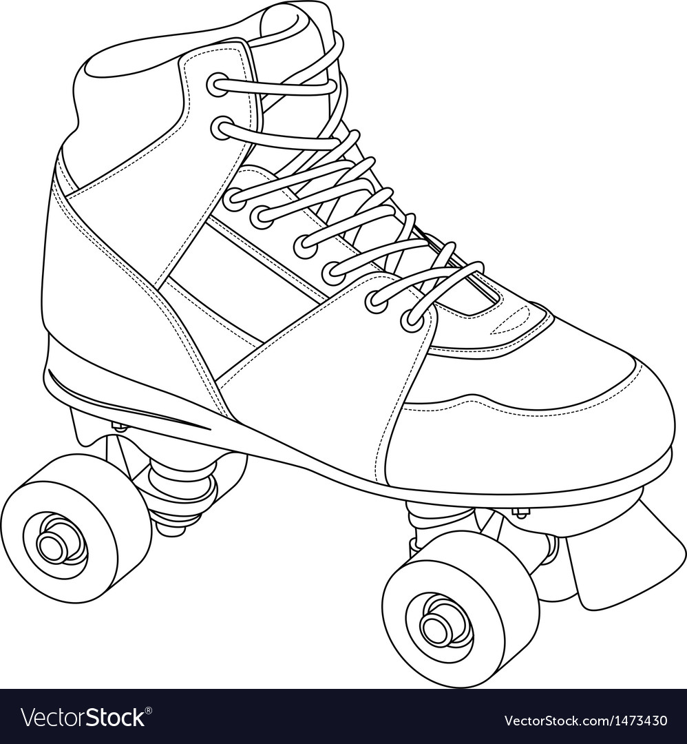 Roller skate vector Roller Derby Skate Drawing