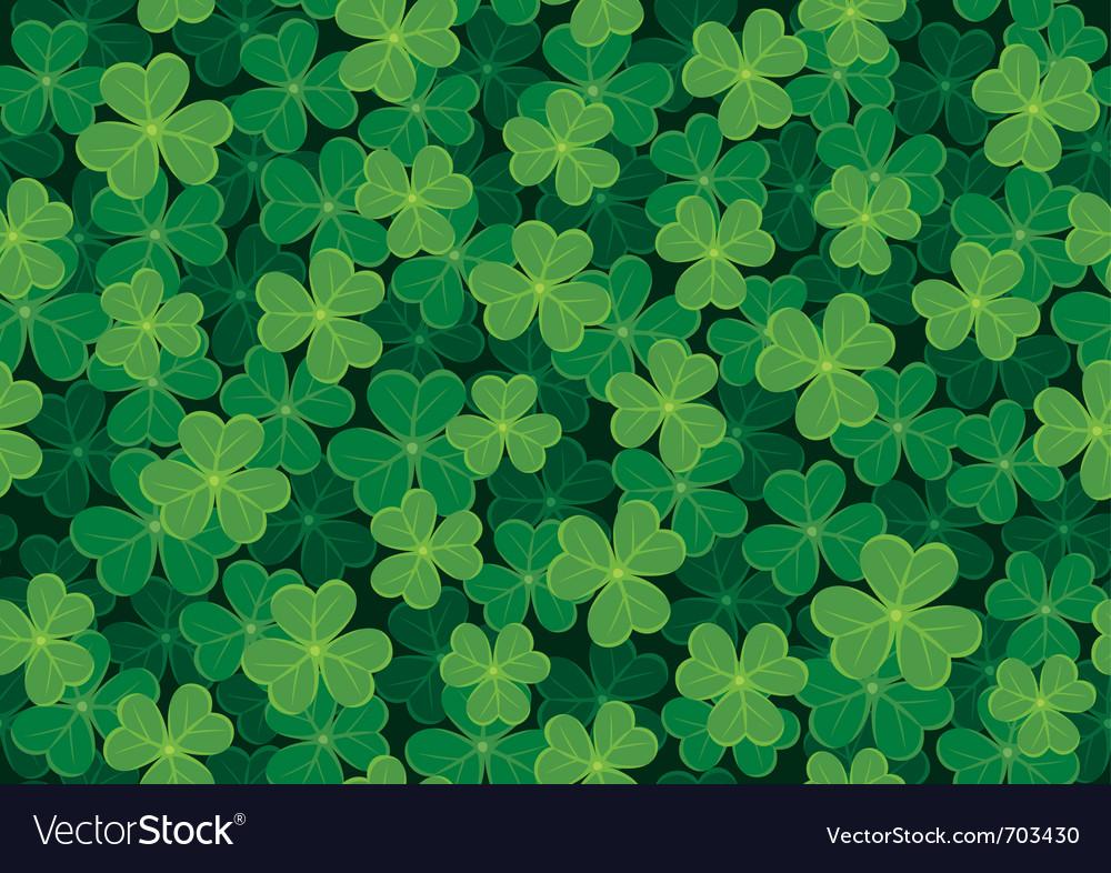 Seamless clover pattern vector