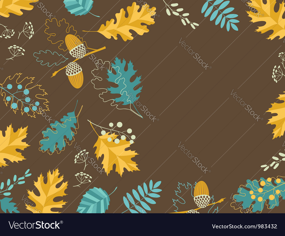 Brown fall card vector