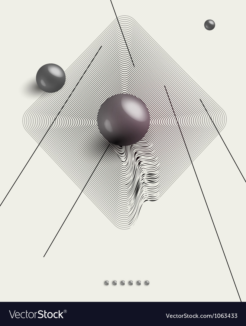 Futuristic abstract poster vector