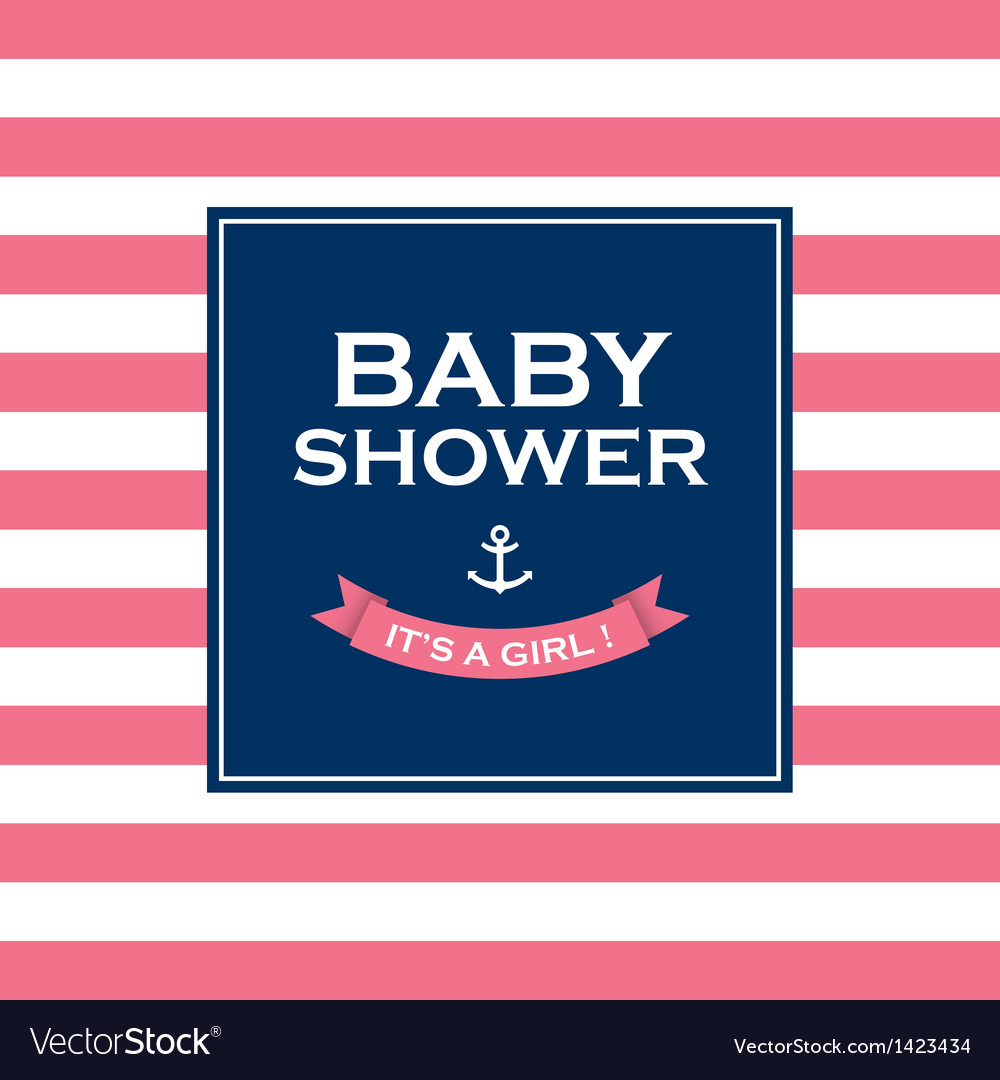 Baby shower girl vector