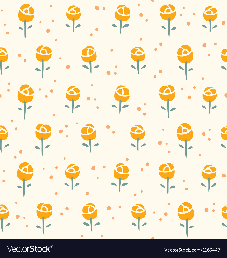 Free little roses pattern vector