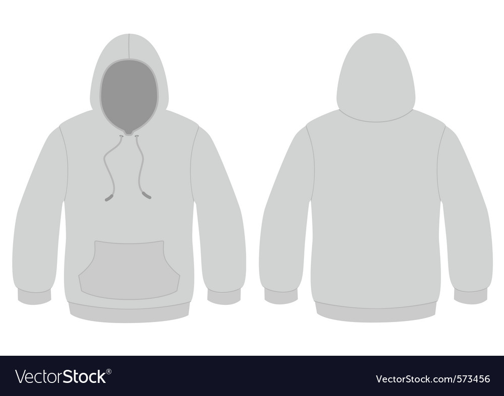 Hooded sweater template vector