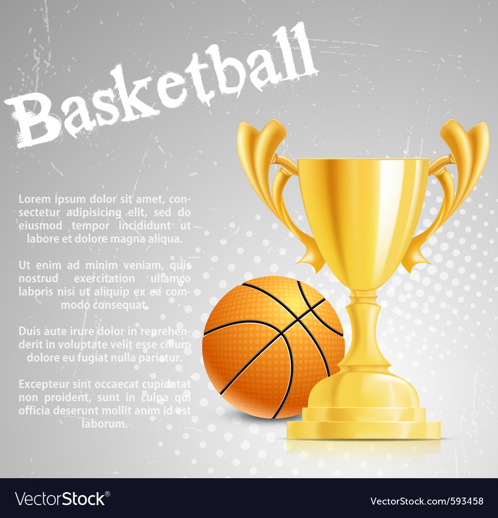 Basketball competition vector