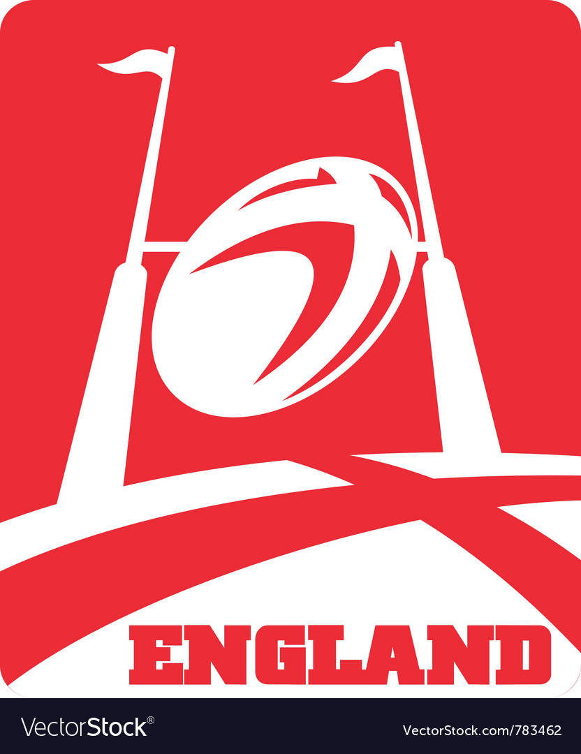 England rugby poster vector