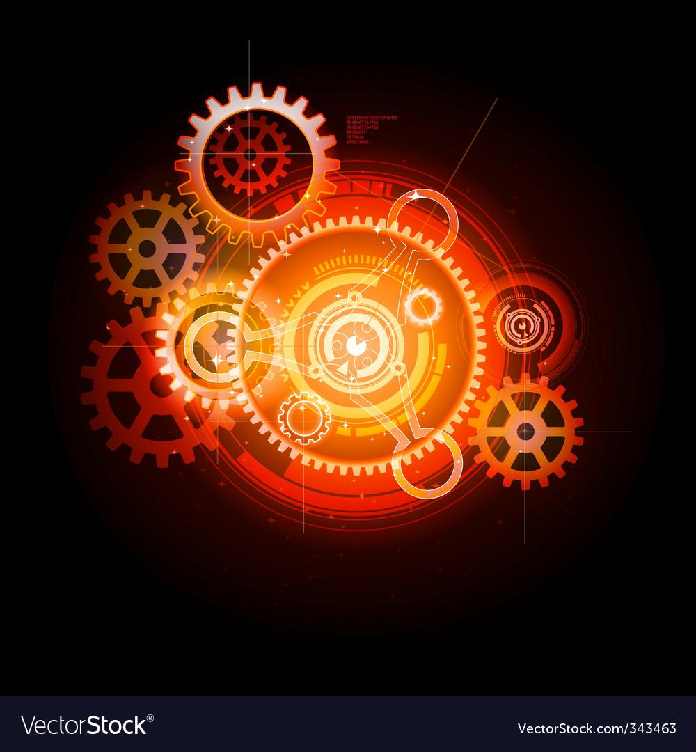 Techno gears vector