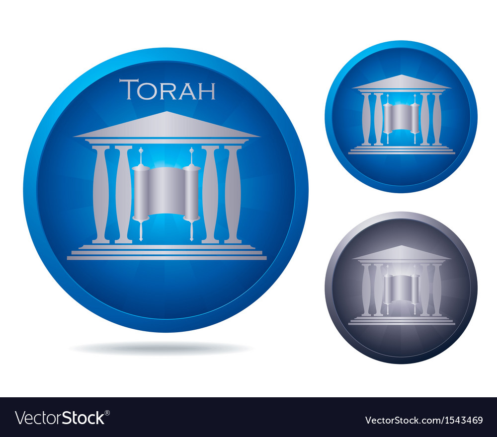 Blue torah vector