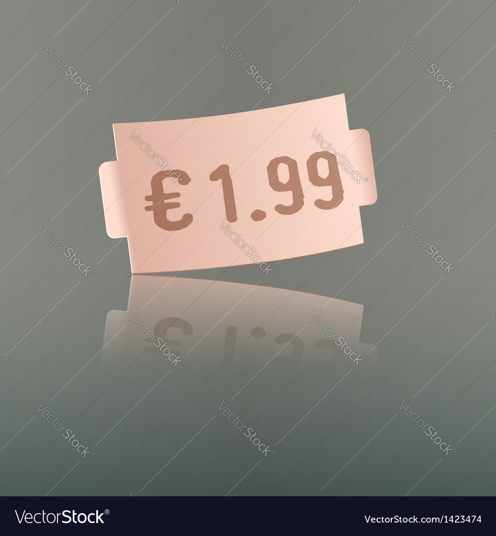 Pink price tag vector