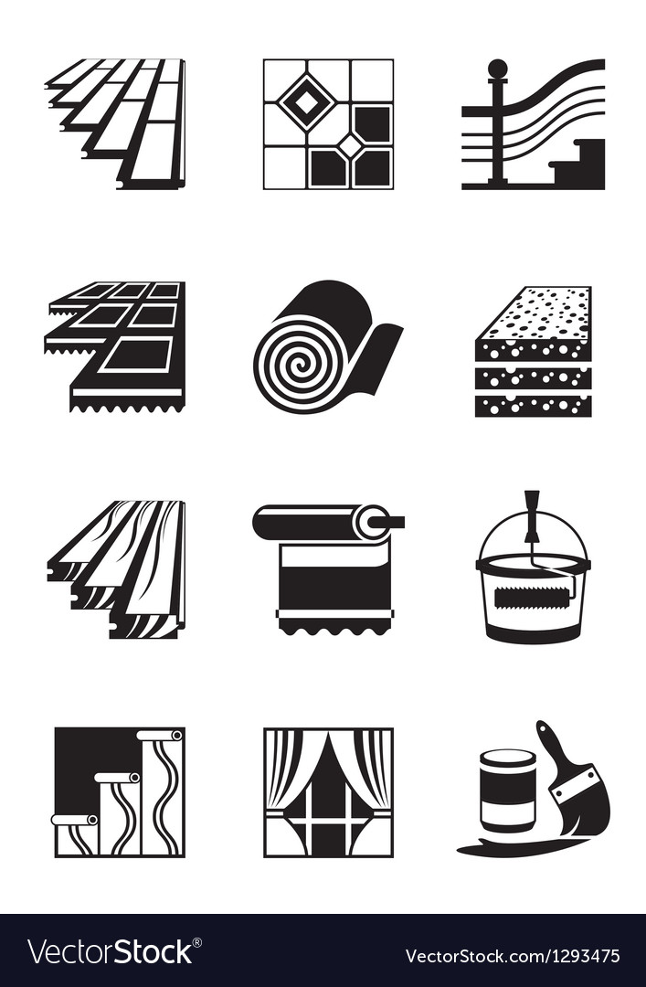 Decoration materials for interior vector