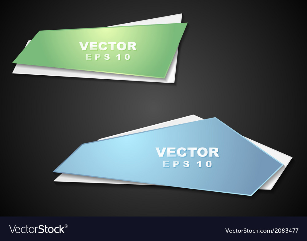 Bright elegant banners vector