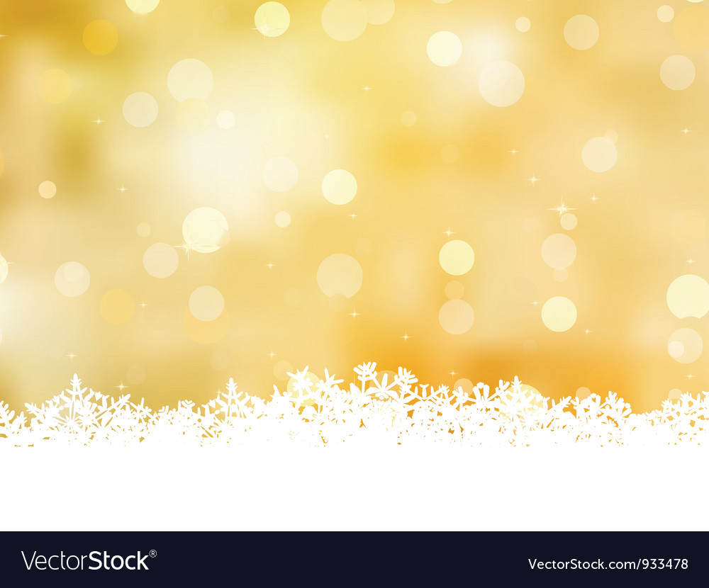 Christmas golden background vector