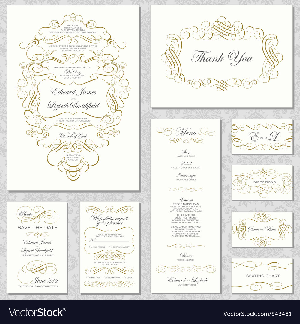 Invitation templates vector