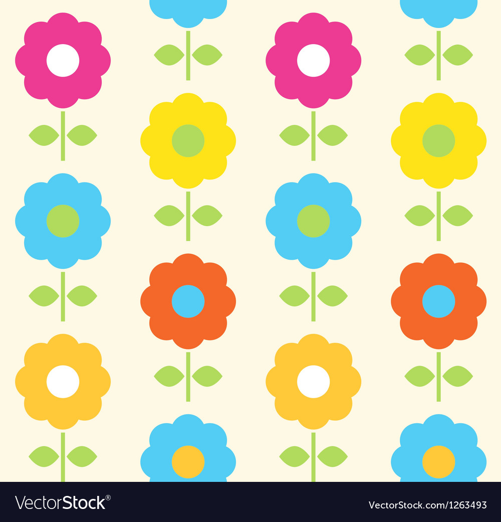 Spring flower seamless pattern design vector