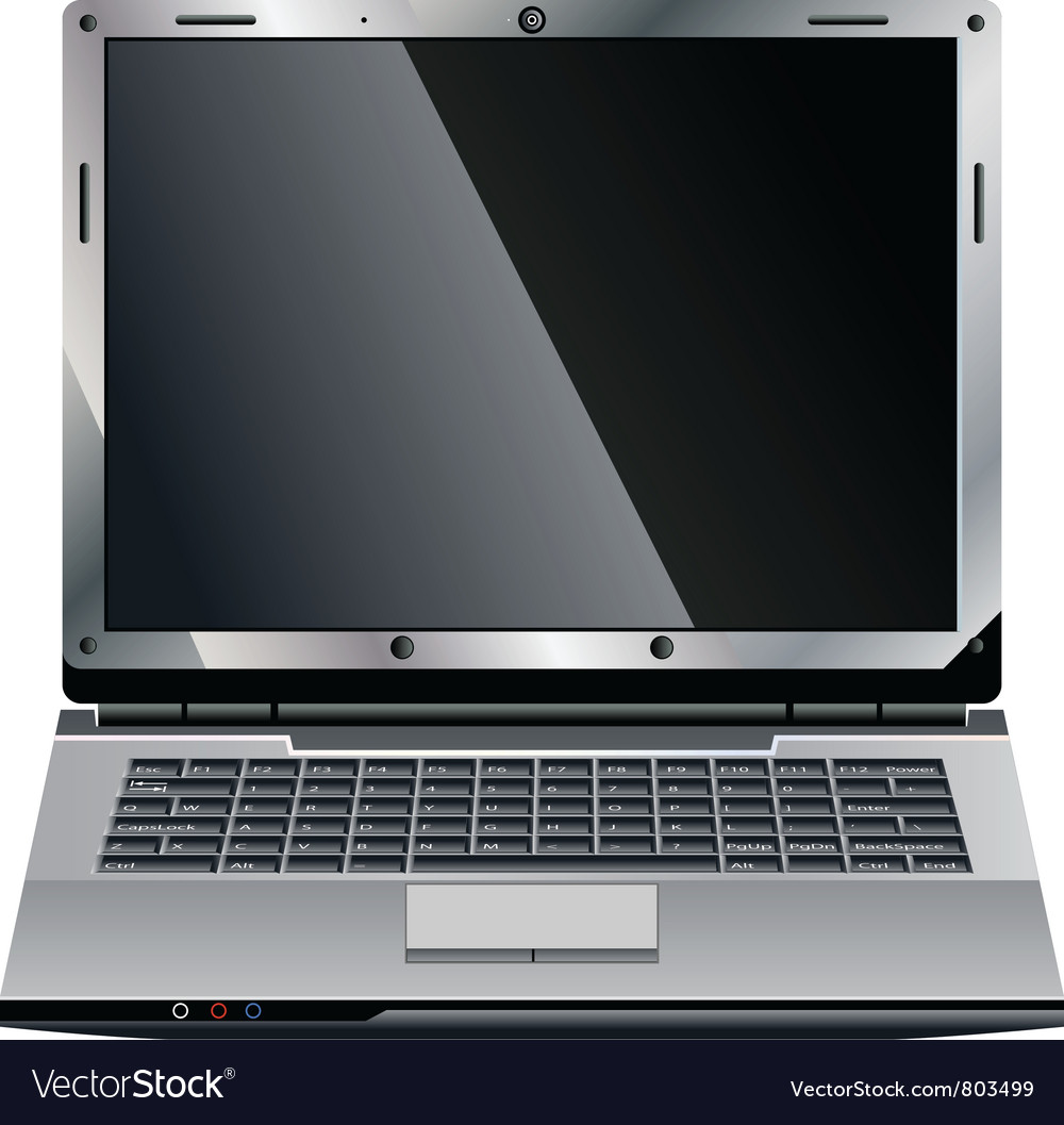 Laptop small vector