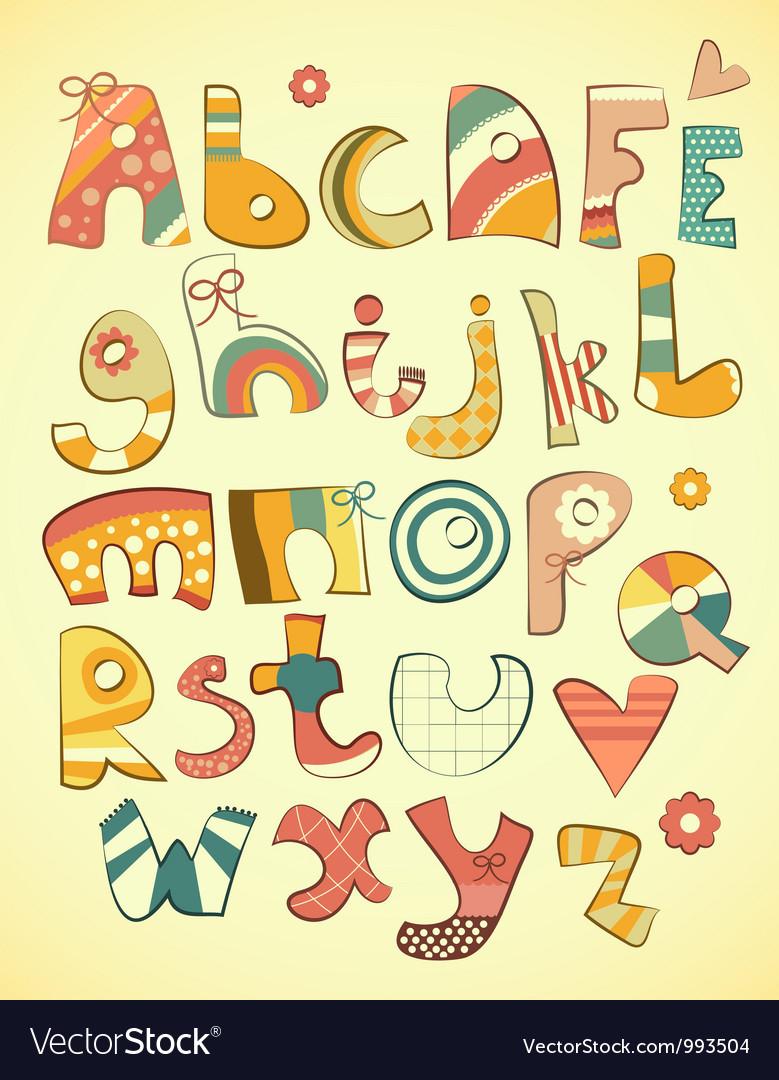 O Alphabet Design Alphabet design vector by elfivetrov - Image #993504 - VectorStock