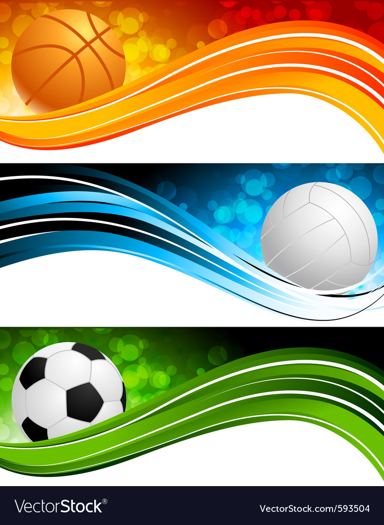 Sports banners vector
