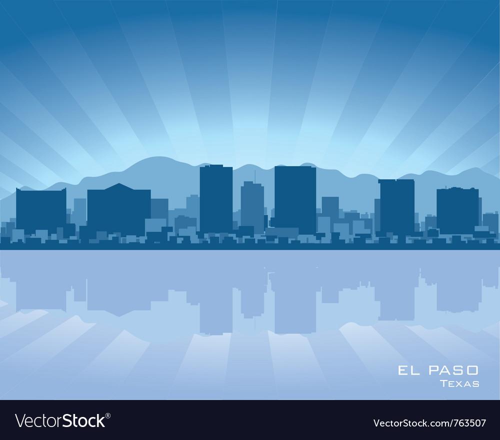 El paso texas skyline vector