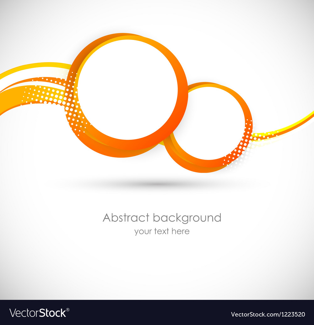 Background with orange circles vector